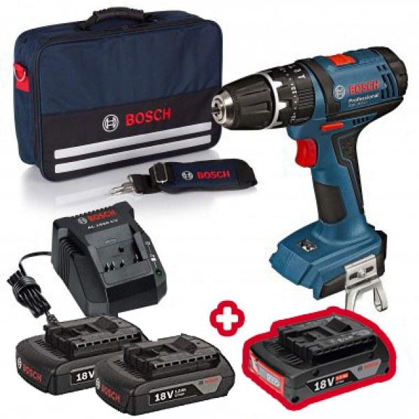 Bosch Professional (Akku-Schlagbohrschrauber + Tasche + 2x 1.5Ah Akkus für 129 € oder Akkuschrauber + L-Boxx + 2x 3.0Ah für 149 €)