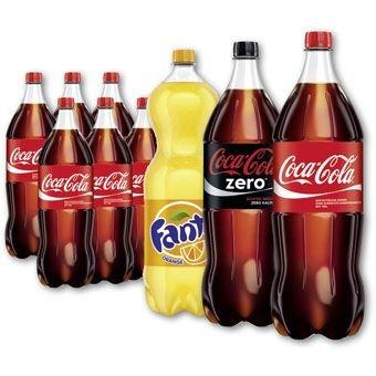 4er Pack Coca-Cola Original oder Zero / Fanta (2 Liter)