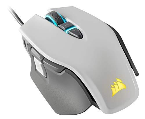 Corsair M65 Elite RGB FPS Gaming Maus (18.000 DPI optischer Sensor, RGB LED Hintergrundbeleuchtung, Anpassbares Gewichtssystem) weiß