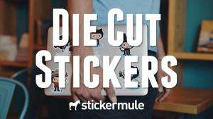 10 die cut Sticker bei Stickermule um 90 Cent