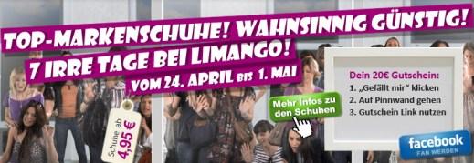 Gratis 20€ Gutschein für Frauenschuhe bei Limango
