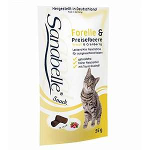 20x Sanabelle Snacksticks für Katzen Forelle & Preiselbeere je 55 g