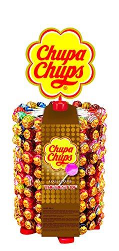 Chupa Chups 180er Lutscherrad plus 20 Lollis gratis | Lollipop-Ständer mit 7 leckeren Geschmacksrichtungen
