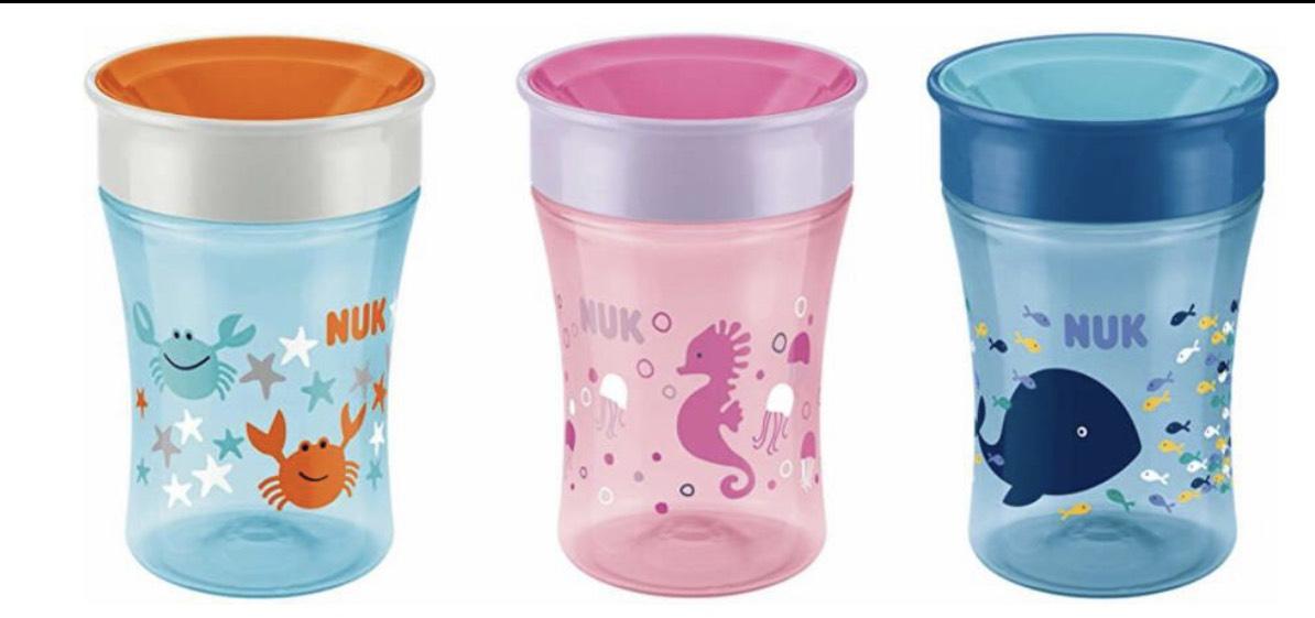Nuk Magic Cup 360 Grad Trinklernbecher, BPA-Frei, drei Motive