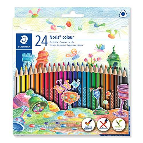 www.AMAZON.de lSTAEDTLER Buntstift Noris colour (erhöhte Bruchfestigkeit, Dreikantform, ergonomische Soft-Oberfläche 25x Kartons siehe Liste
