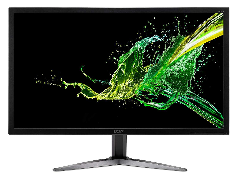 Acer KG281KAbmiipx 71 cm (28 Zoll) Monitor (HDMI, 1ms Reaktionszeit, 60hz, 3.840 x 2.160, AMD FreeSync, Display Port, Audio Out) schwarz