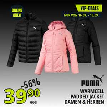 Puma WarmCell Padded Jacket, Isolationsjacke, Damen / Herren