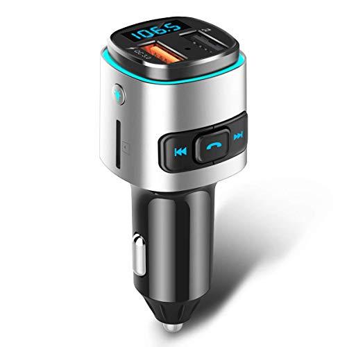 FM-Transmitter für eine Bluetooth-Übertragung zum Autoradio (Amazon)