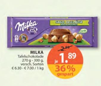 Müller Milka Schokolade gleich passend zum Sky Deal