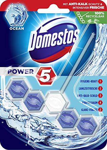 Domestos WC-Stein Power 5 Ocean 9er Pack, (9 x 55 ml)