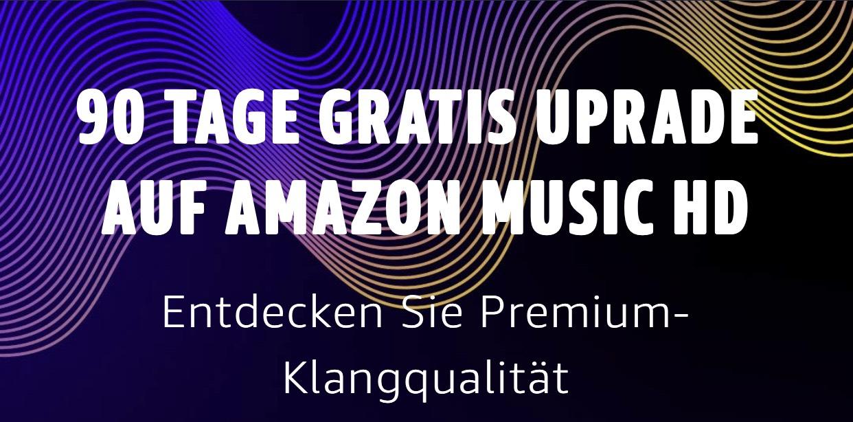 90 Tage gratis Amazon Music HD für Bestandskunden und Neukunden
