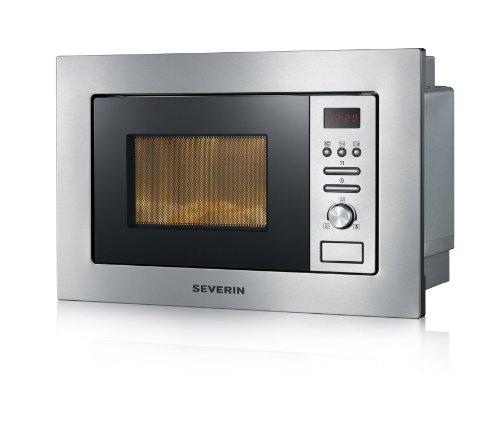 Severin MW 7880 Einbau-Mikrowelle mit Grill (800W, 20L, 6 Leistungsstufen, 24.5cm Drehteller)