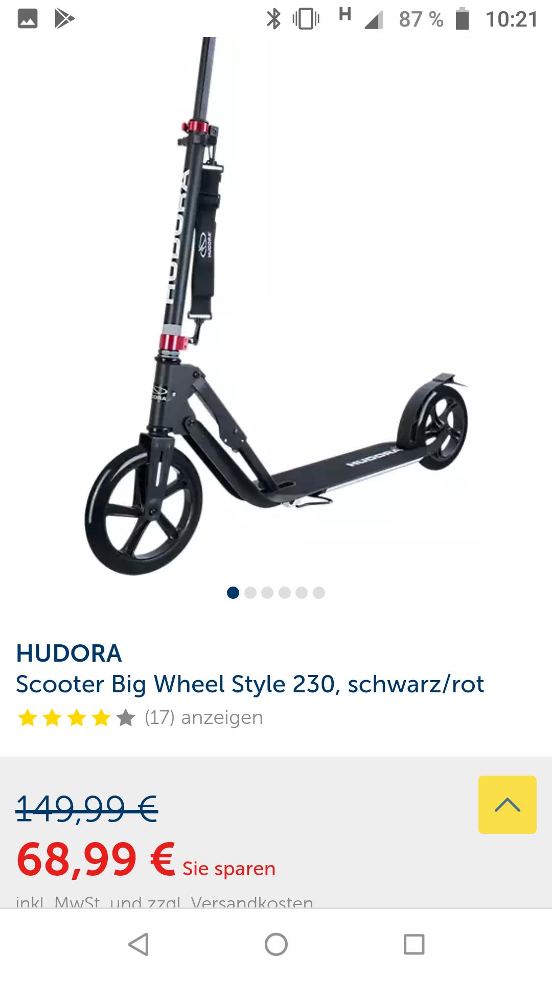 Hudora Tretroller Big Wheel 230 Style
