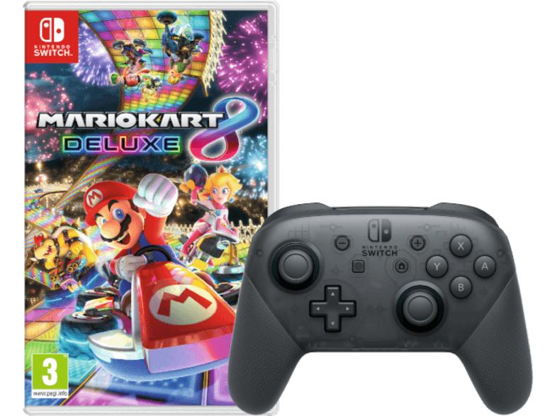 NINTENDO Switch Pro Controller + Mario Kart 8 Deluxe