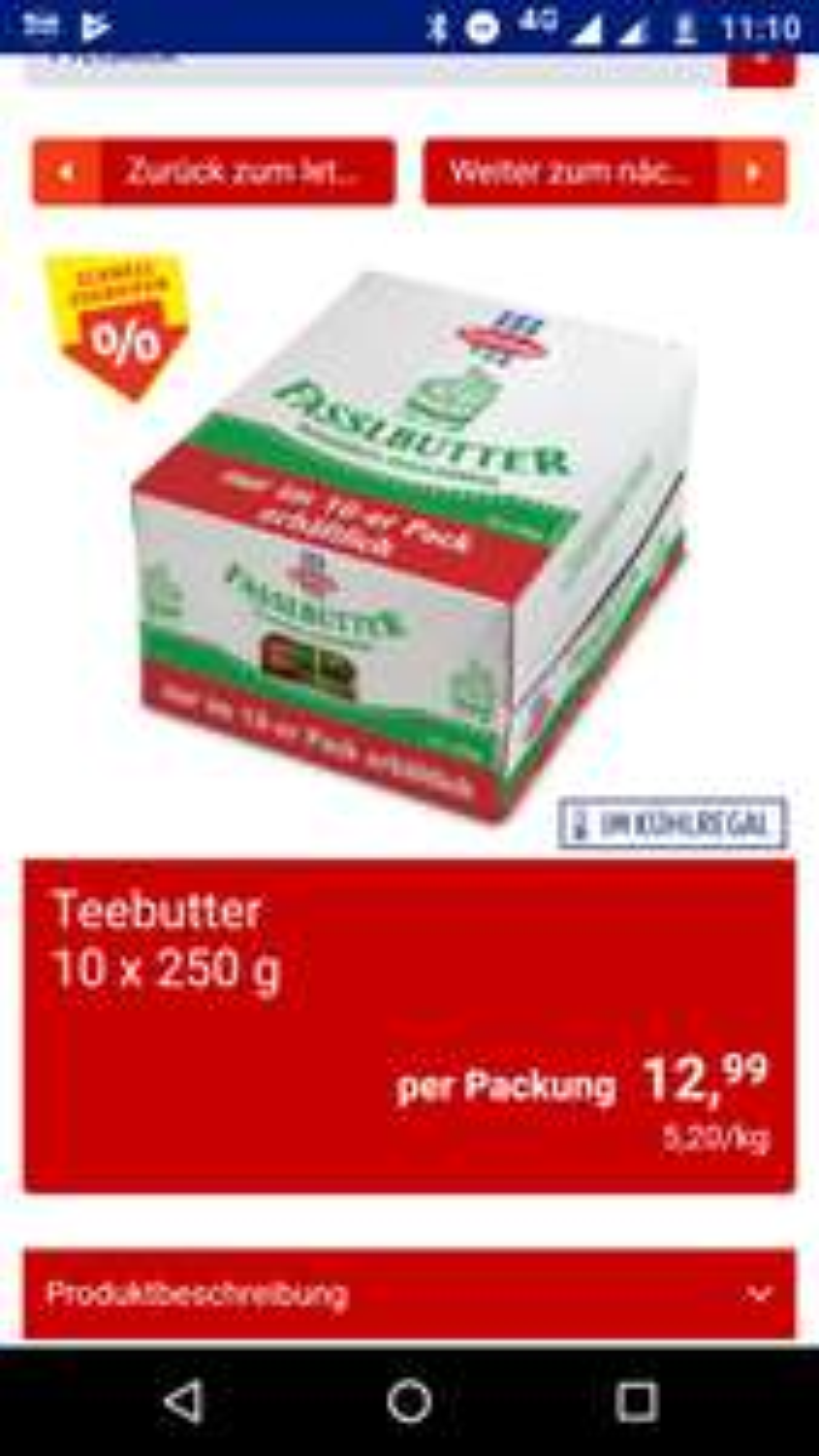Butter Großpackung