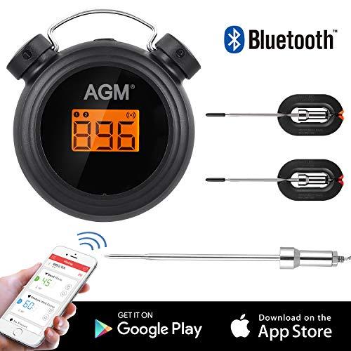AGM Grillthermometer, 2 Sonden, Bluetooth