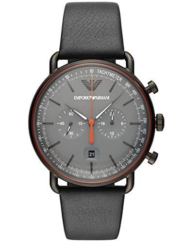 Emporio Armani Herren-Chronograph mit Leder Armband (AR11168)
