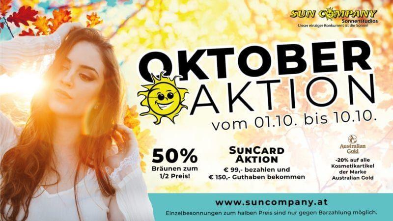Sun Company Solarium Oktober Aktion 2019 ️