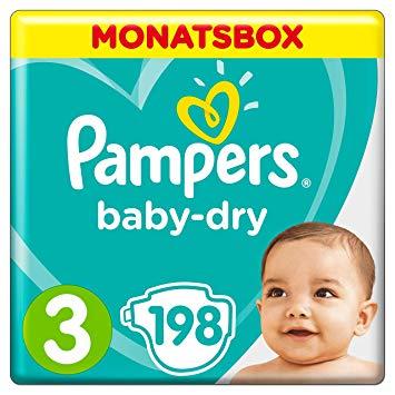 MONATSBOX Pampers baby dry und Höschenwindeln um 33 Prozent reduziert