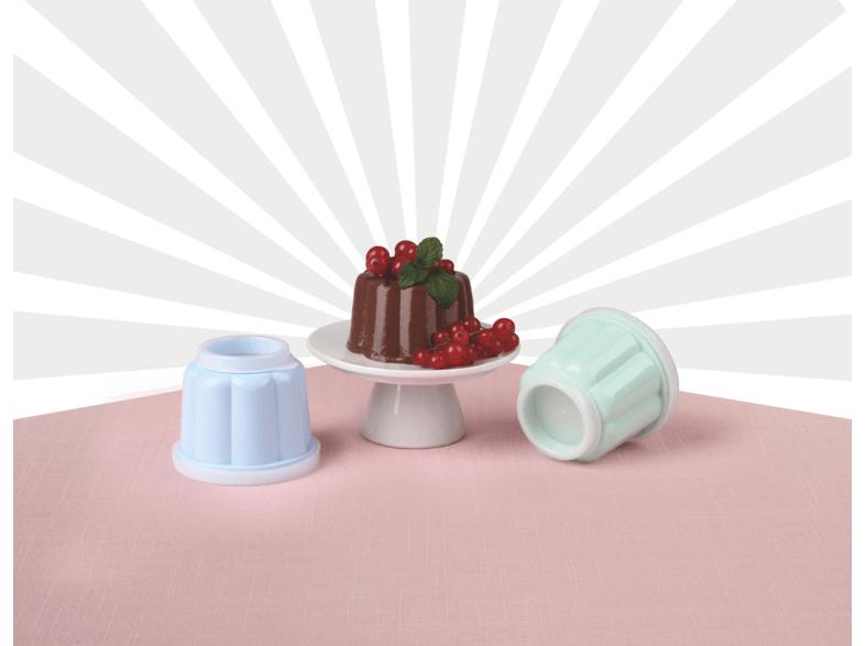 Dr. Oetker Retro Puddingförmchen mit Deckel, 6er Set