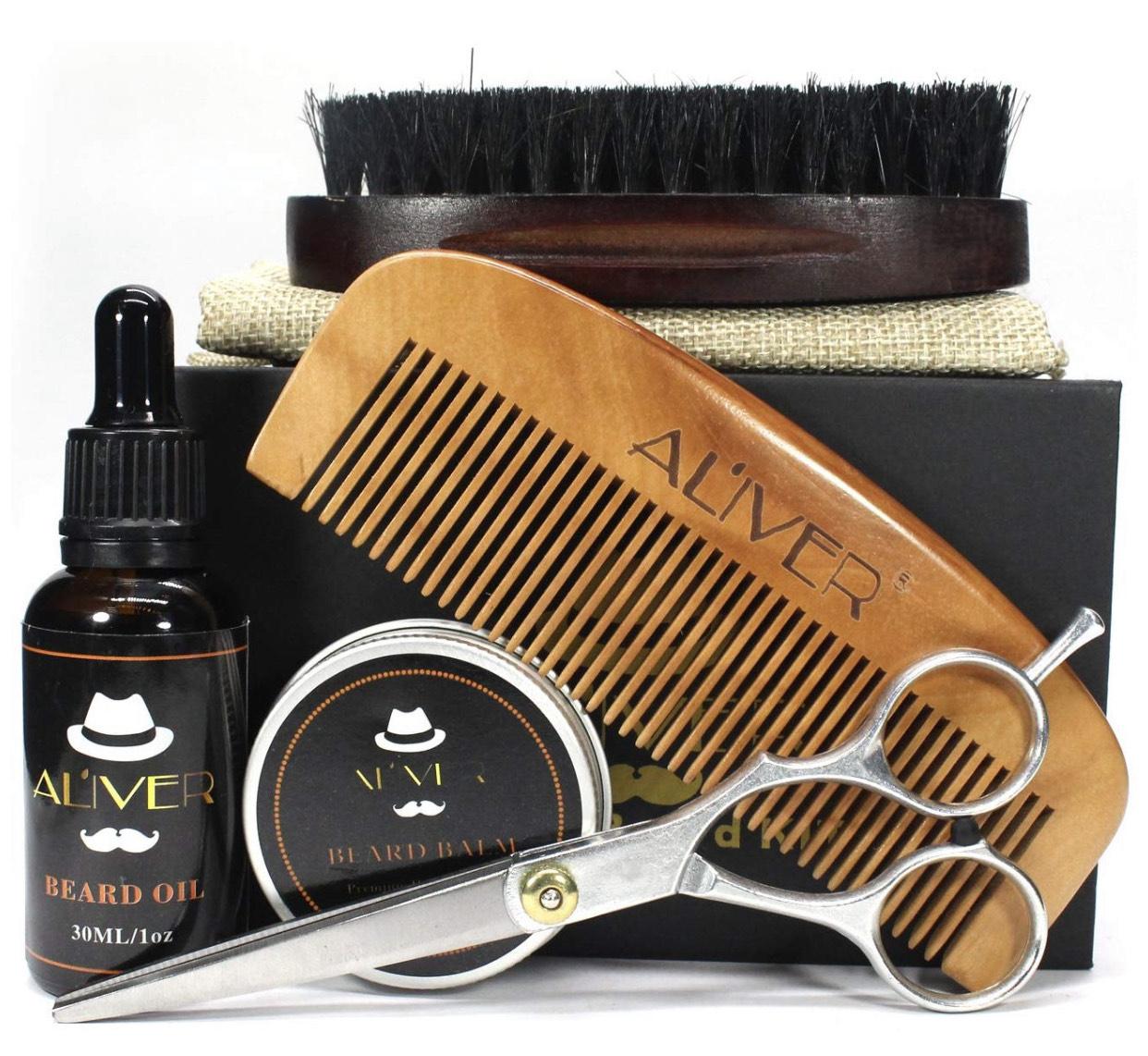 Aliver Männer Bartpflege/Styling-Set 5 Teilig
