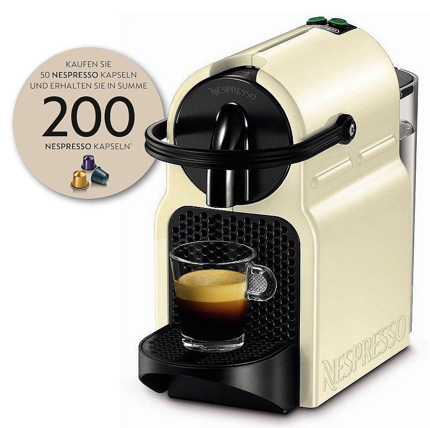 redzac.at DeLonghi EN 80.CW Inissia creme inkl. Gutschein für 200 Nespresso-Kapseln!
