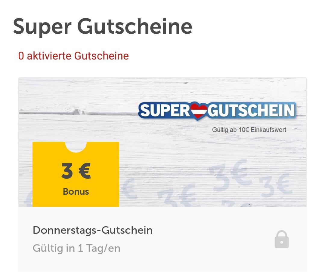 [LIDL APP] Donnerstag 3 Euro Gutschein auf Einkauf ab 10 Euro