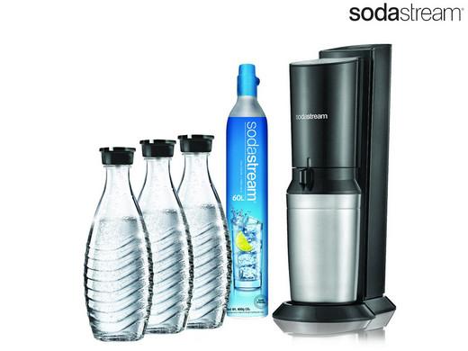 SodaStream Crystal 2.0 Titan mit 3 Karaffen & CO2-Zylinder