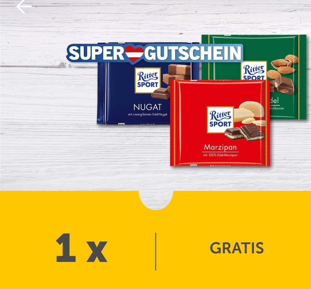 Lidl Plus: Gratis Ritter Sport Schokolade