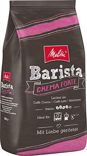 Melitta Barista Crema Forte - 1kg  Ganze Kaffeebohnen, kräftig und vollmundig, Stärke 4,