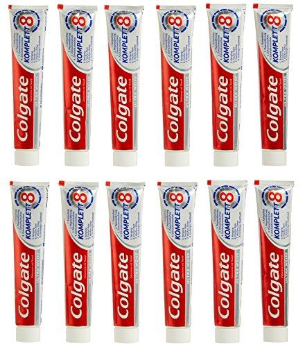 (Plus Produkt) Colgate Komplett Ultra Weiß Zahnpasta 12x 75 ml