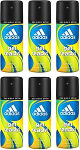 adidas get ready! Deo Body Spray für Herren (6 x 150 ml)