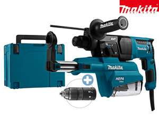 Makita SDS+ Bohrhammer | 230 V | 800 W | mit Staubabsaugung | HR2651TJ