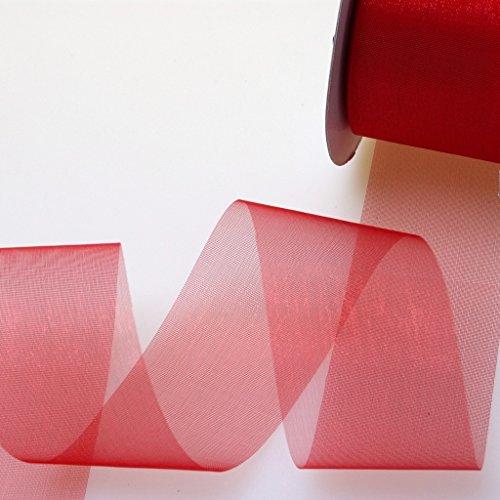 Dekoband / Organzaband - 40 mm breit - 25 Meter lang - verschiedene Farben