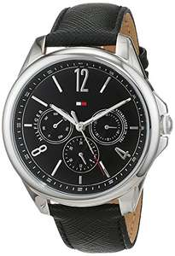 Tommy Hilfiger Multi Zifferblatt Quarz Uhr mit Leder Armband