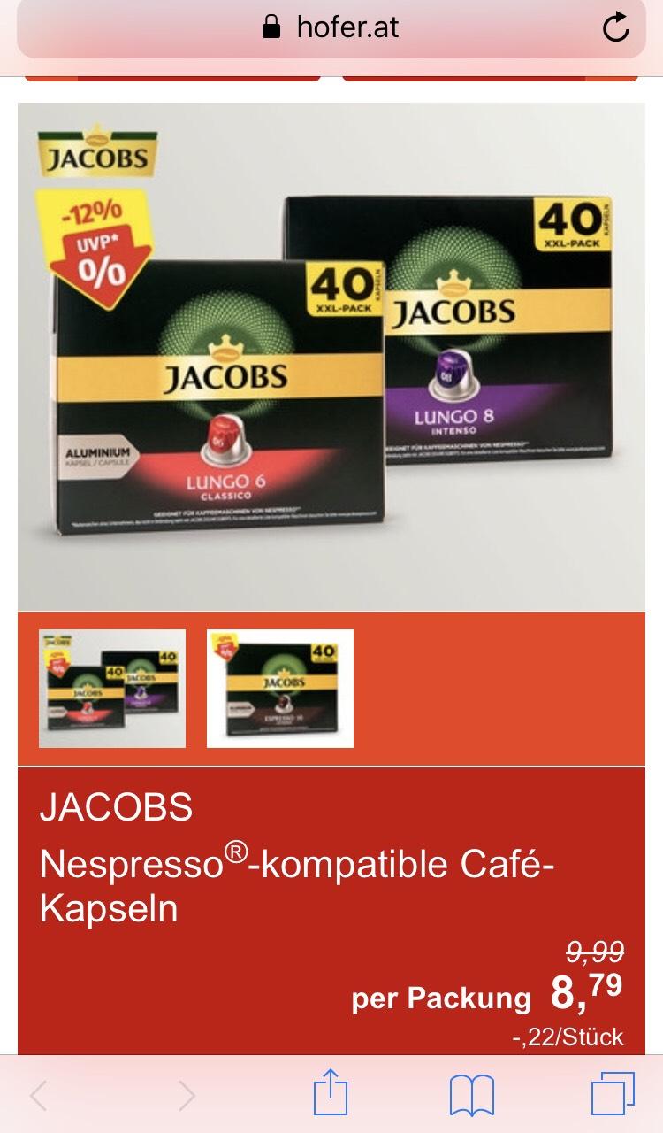 Jacobs Kaffeekapseln 40Pack