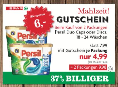 (Spar + MarktGuru) Persil 4in1 Discs