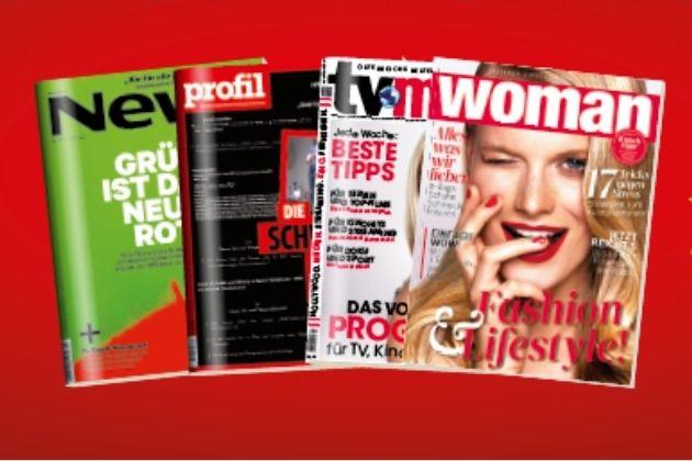 GRATIS testen: 12x TV-Media, Trend & Profil, 6x Woman, 3x Gusto & Autorevue