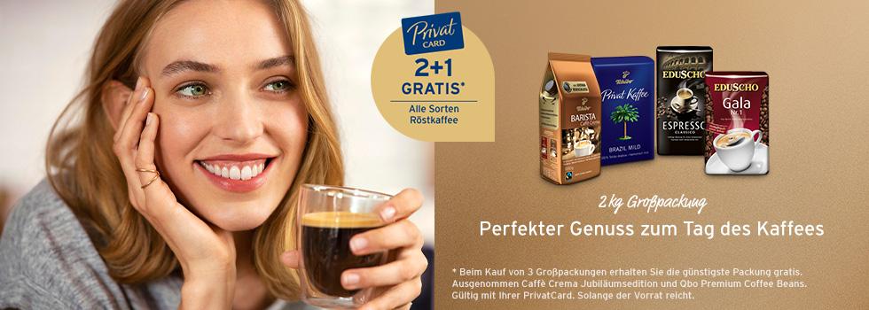 Tchibo/Eduscho Röstkaffee 2+1 gratis