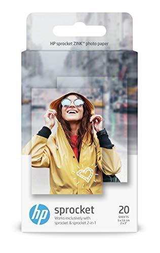 """2x 20 Blatt 2x3"""" HP ZINK Fotopapier (für HP Sprocket und ähnliche)"""