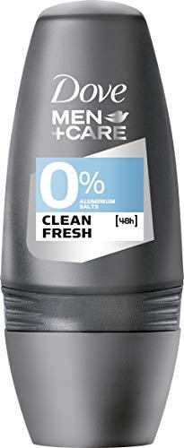 [Amazon Spar-Abo] 6x Dove Men + Care Clean Fresh 0% Aluminiumsalze, Roll-On (6er Pack - 6 x 50 ml)