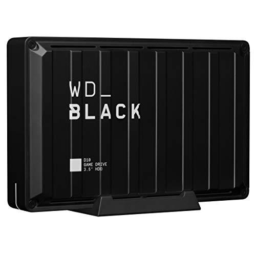 Western Digital WD_Black D10 Game Drive externe Festplatte 8 TB (Übertragungsgeschwindigkeit bis zu 250 MB/s, 7200 U/min und aktive Kühlung)