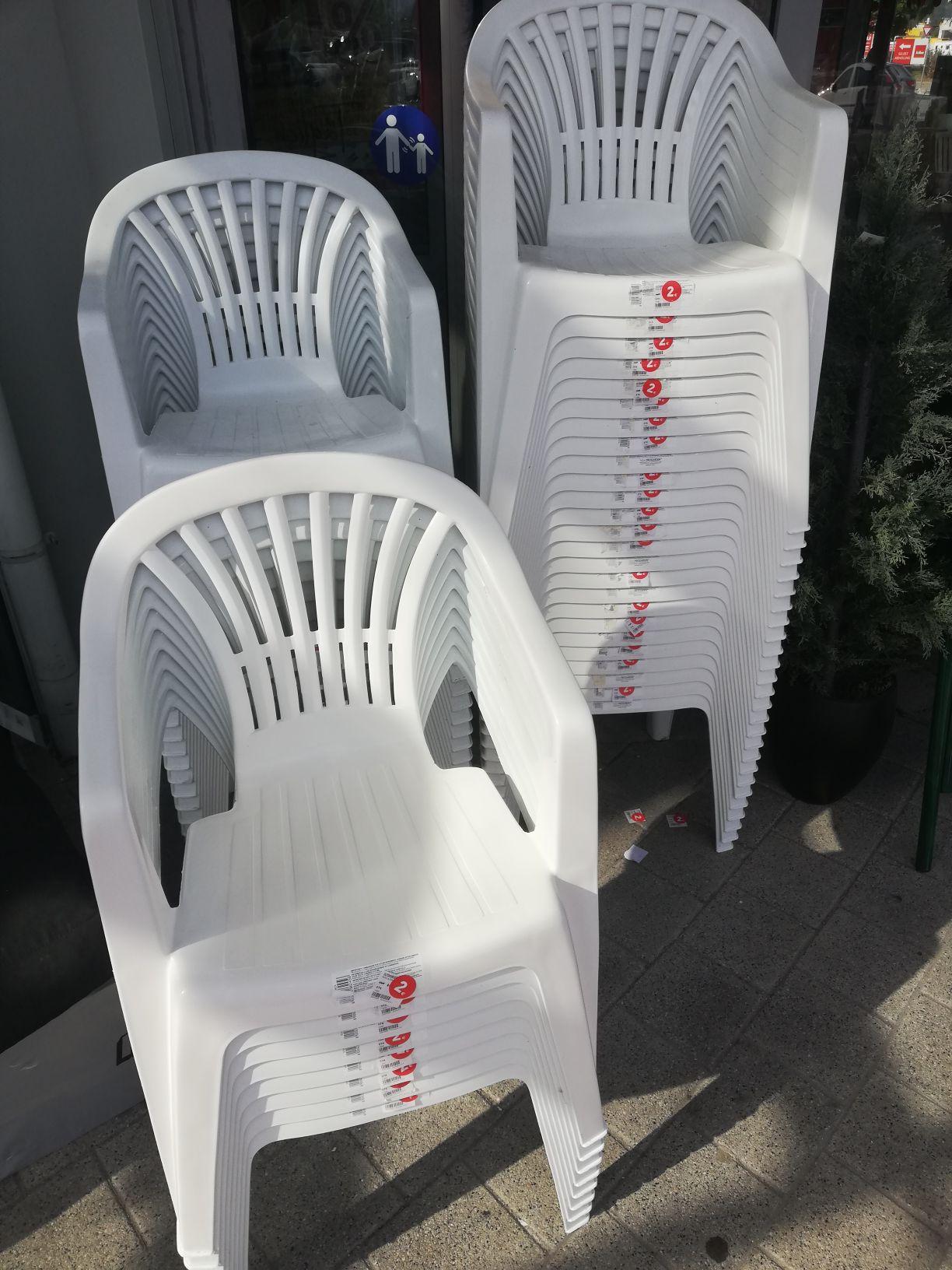 Kika Kunststoff Plastik gartensessel