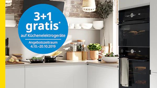 IKEA Family Angebot: 3+1 gratis* auf Küchenelektrogeräte