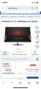 OMEN by HP »OMEN 27« Gaming-Monitor (27 Zoll, 2560 x 1440 Pixel, QHD, 1,8 ms Reaktionszeit, 165 Hz)