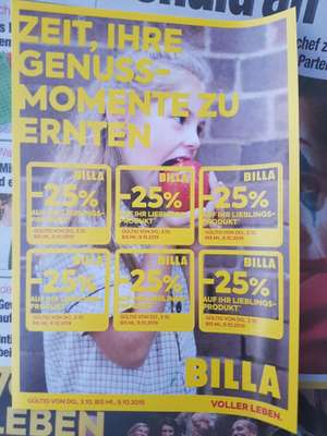 25% Billa Pickerl