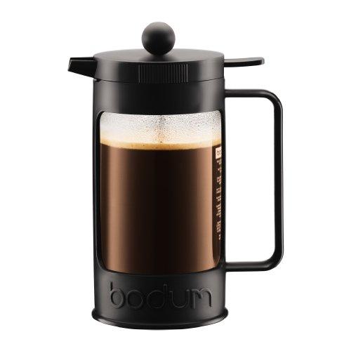 Bodum BEAN Kaffeebereiter für 8 Tassen, 1 Liter, Schwarz/Creme