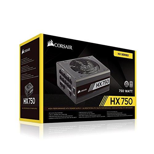 Corsair HX Series HX750 80 PLUS Platinum, 750W ATX Netzteil