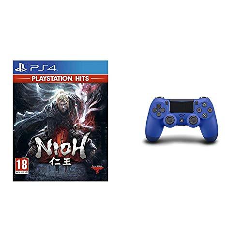 """Sony DualShock 4 Controller (blau) + Spiel """"Nioh"""""""