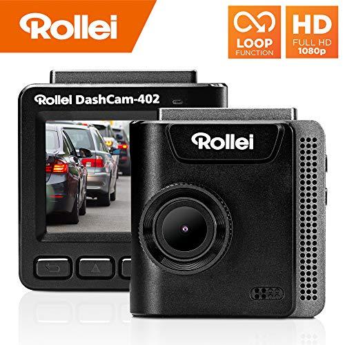 Rollei Dashcam 402 mit GPS und G-Sensor | Rechtskonforme Autokamera vorne | 1080p Full-HD | Auto-Kamera zur Überwachung und Parküberwachung